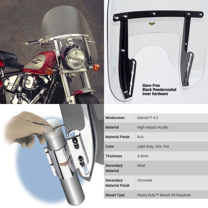 Yamaha XVS 1100 DragStar Custom Windschermen