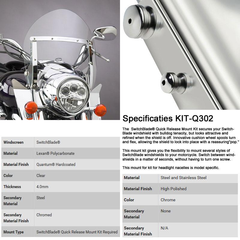 Kawasaki Vulcan 2000 VN2000 Switchblade Hardware Kit National Cycle KIT-Q302